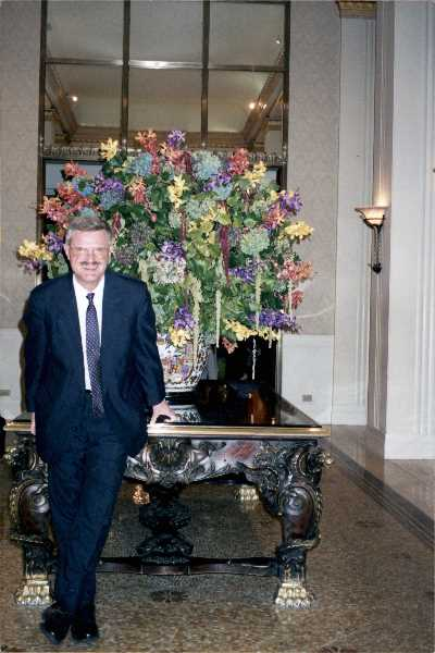 COURTESY PHOTO - George Haight of Woodburn seen at the Waldorf-Astoria during his stay in New York City as part of the Flight for Freedom, a contingent of Oregonians who traveled to the city barely a month after the Sept. 11, 2001, terrorist attacks to show support.