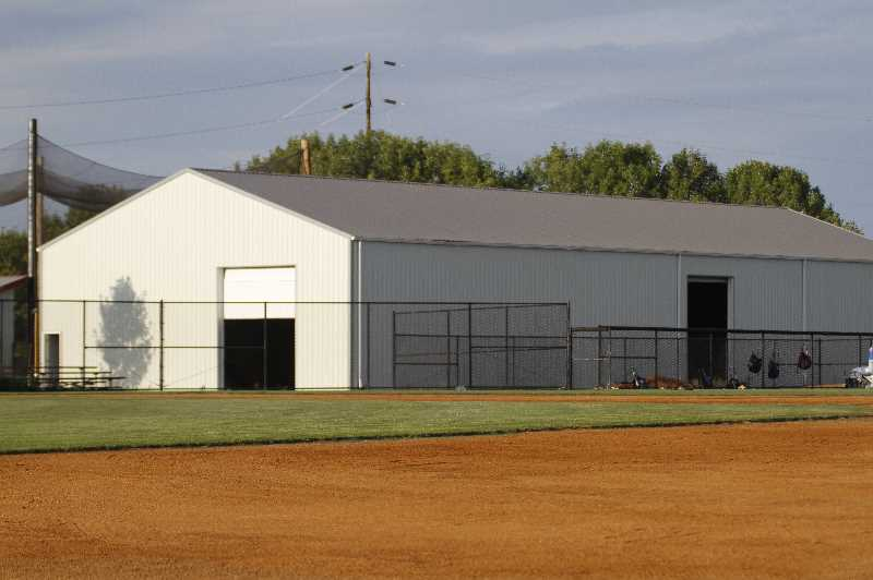 PMG PHOTO: WADE EVANSON - The 6,000 square foot facility was built on the north side of the varsity baseball field and serves youth through high school players.