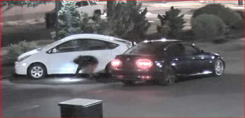 COURTESY PHOTO: WOODBURN POLICE DEPARTMENT - Woodburn Police shared images of suspects stealing or attempting to steal catalytic converters.