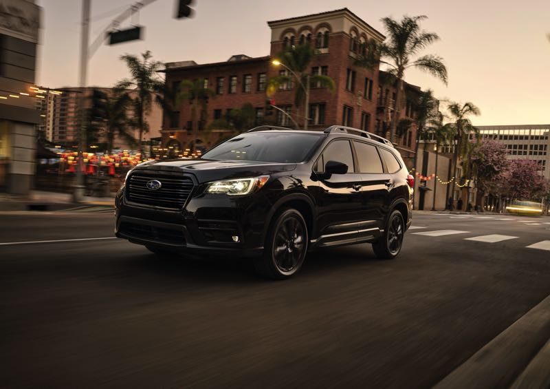 COURTESY SUBARU OF AMERICA - The new Onyx Edition package available on the 2022 Subaru Ascent includes unique black exterior and interior trim for a sportier and more rugged look.