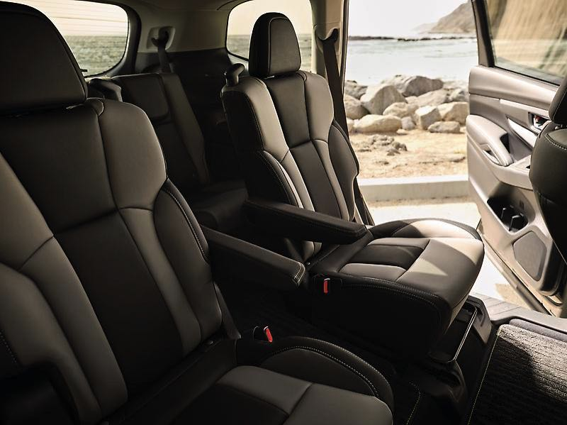 COURTESY SUBARU OF AMERICA - The 2022 Subaru Ascent Onyx Edition comes stard with second row captains chairs that make it easier to reach the third row.