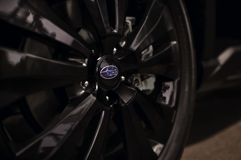 COURTESY SUBARU OF AMERICA - Unique black 20-inch alloy wheels are included in the Onyx Edition package for the 2022 Subaru Ascent.