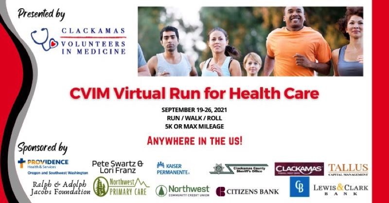 COURTESY PHOTO: CVIM - Clackamas Volunteers in Medicine is set to hold a the Virtual Run, Walk and Roll for Health Care in September.