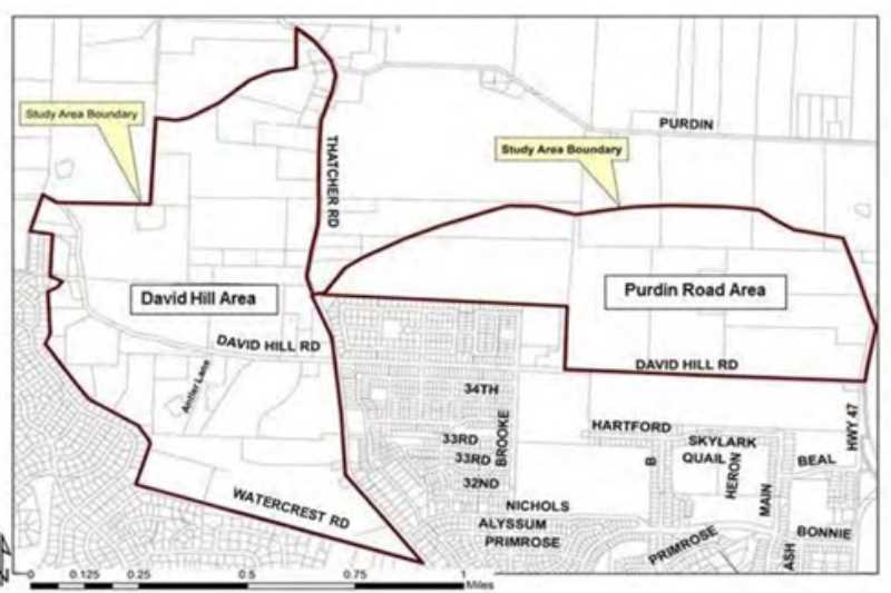 COURTESY PHOTO - The Purdin and David Hill properties north and west of town are areas that will affect Forest Grove's water plan going forward.