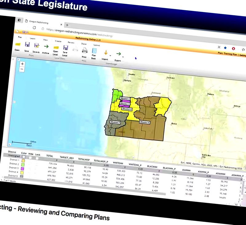(Image is Clickable Link) COURTESY PHOTO: STATE OF OREGON - A screenshot shows the Legislature's website giving Oregonians a chance to draw their own redistricting maps.