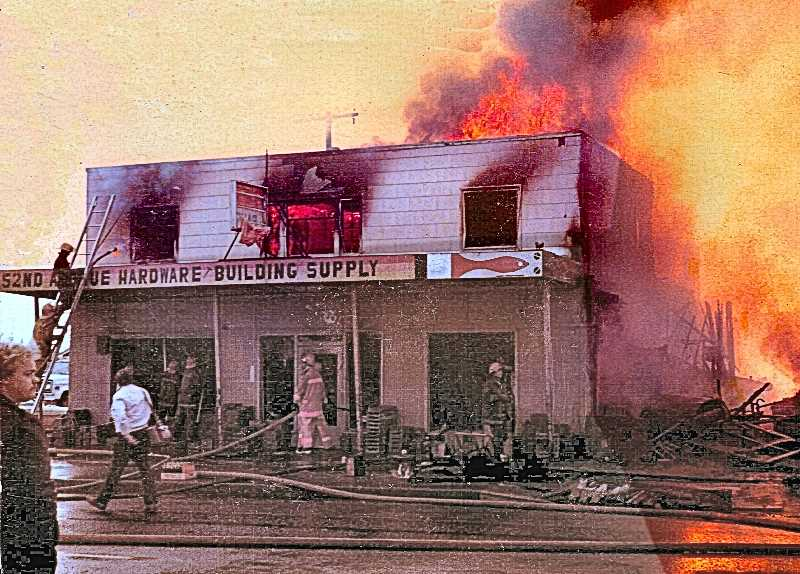 FAMILY-PROVIDED PHOTO - After a teenage arsonist burned the business to the ground in 1980, the family rallied and rebuilt its iconic 52nd Street Hardware and Building Supply.