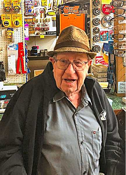FAMILY-PROVIDED PHOTO - Although hed retired numerous times, 52nd Avenue Hardware and Building Supply owner Gordon Besaw always came to work anyway.
