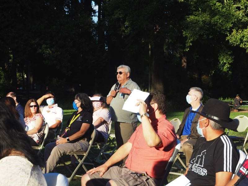 PMG PHOTO: MAX EGENER - Hector Hinojosa, a longtime advocate for the Latino community in Washington County, voices concerns over the placement of a homeless shelter in a predominantly Latino business community in Hillsboro.