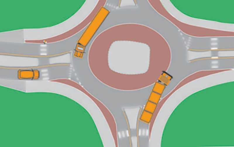 FILE PHOTO - A look at how a roundabout at Highway 213 and Toliver Road might look when completed.