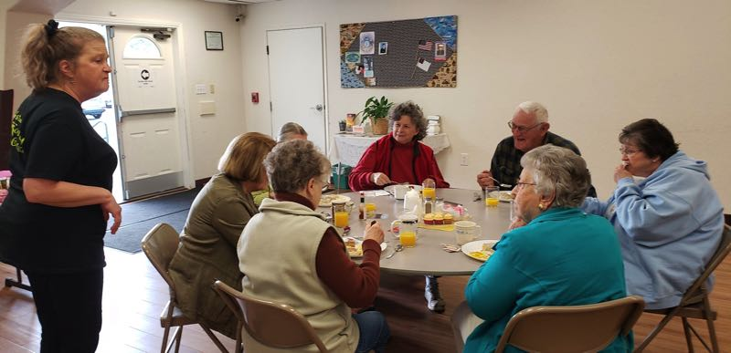 COURTESY PHOTO - Estacada Community Outreach hosts a free breakfast each month. Photo taken prior to the COVID-19 pandemic.