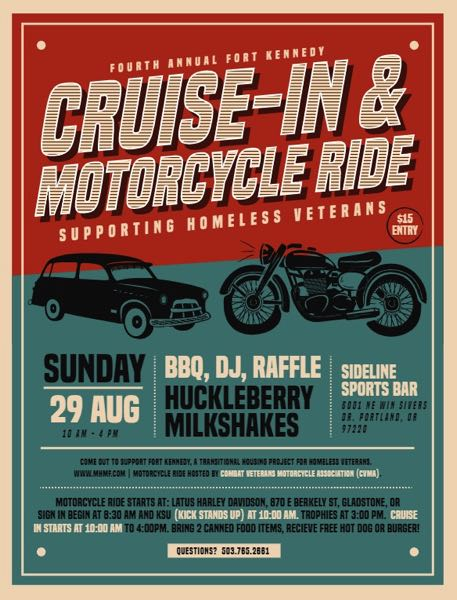COURTESY PHOTO: FORT KENNEDY - Fort Kennedy is hosting its annual cruise-in event this Sunday.