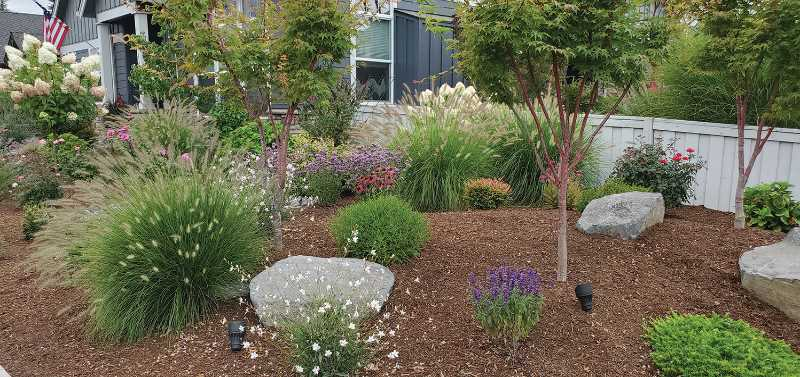 COURTESY PHOTO: DONNA BRYANT - The yard of Diana Webb was named the August Yard of the Month by the Canby Garden Club.