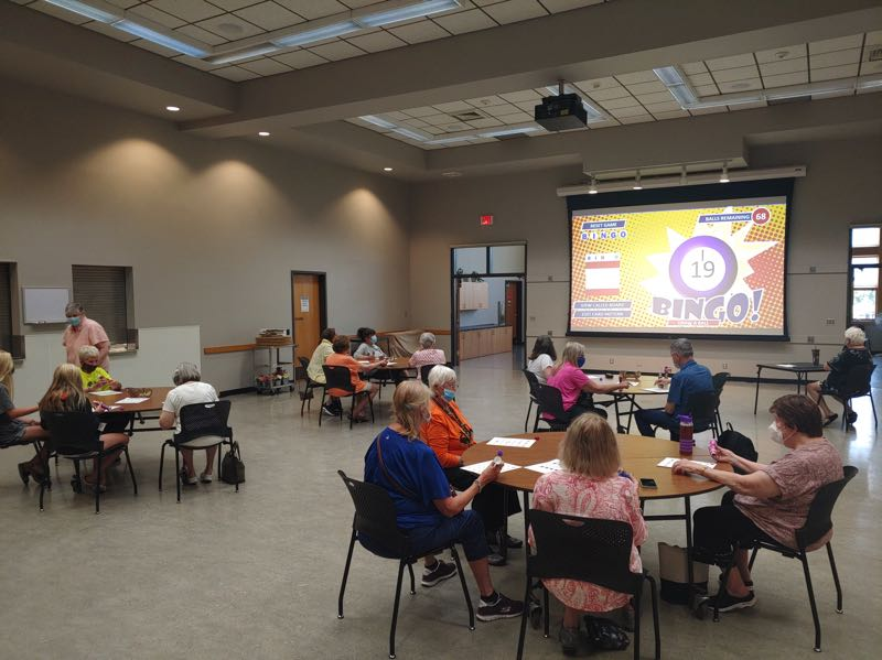 COURTESY PHOTO: CITY OF WILSONVILLE - Participants attend the first bingo night since the Wilsonville Community Center reopened.