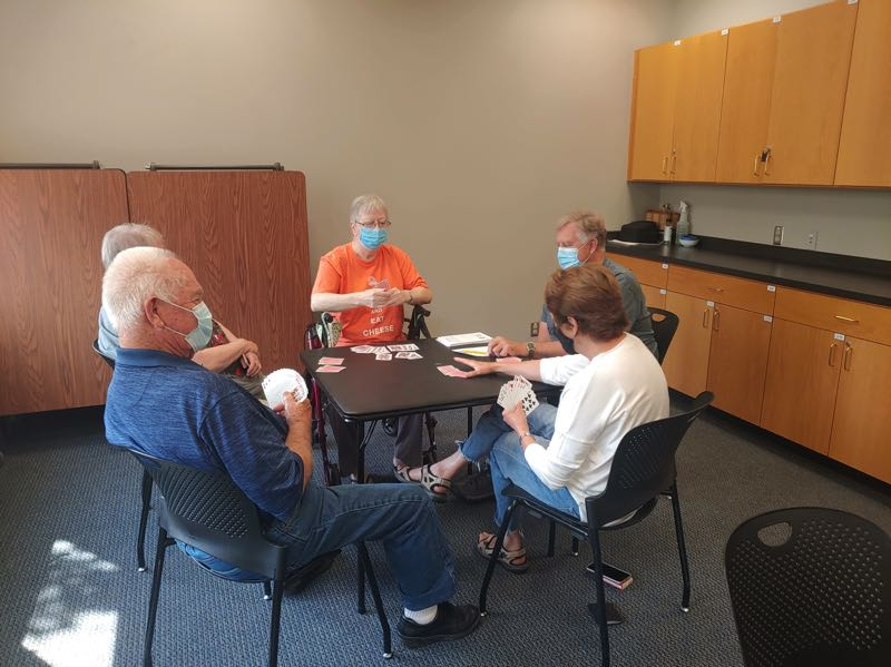 COURTESY PHOTO: CITY OF WILSONVILLE  - People play cards at the Wilsonville Community Center.