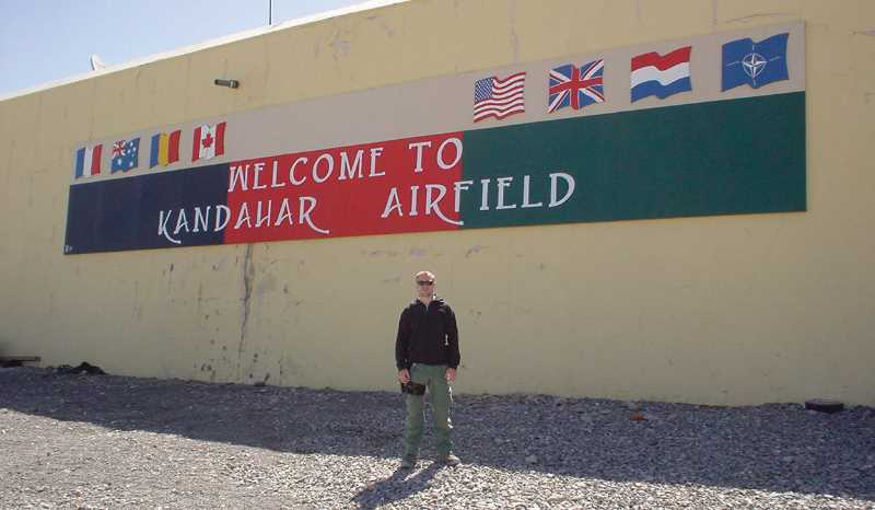 COURTESY PHOTO: CHRIS CRUM - Chris Crum during one of his tours in Afghanistan.