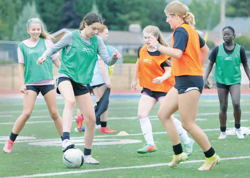 PMG PHOTO: GARY ALLEN - The Newberg High School girls soccer team hopes to make strides and improvements after a difficult stretch of seasons when it often struggled to compete with some of the top schools in its conference.