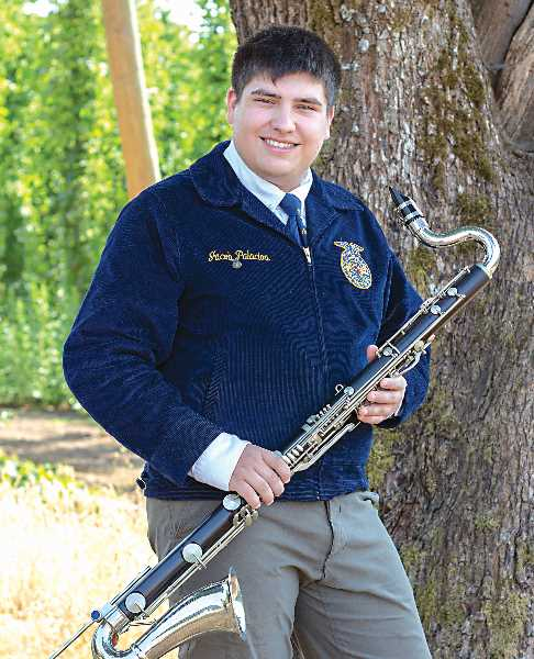 COURTESY PHOTO: MICHELLE PALACIOS - Canby FFA member Jacob Palacios has earned a spot with the National FFA Band and will perform multiple times during the 2021 National FFA Convention & Expo in late October.