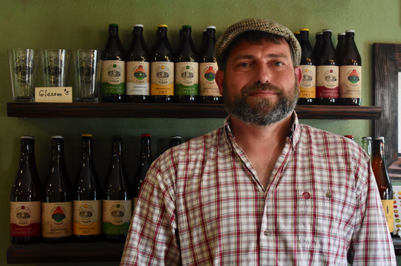 PMG PHOTO: EMILY LINDSTRAND - John Hamblin of Stone Circle Cider is grateful to his neighbors who helped fight the Riverside Fire last fall.
