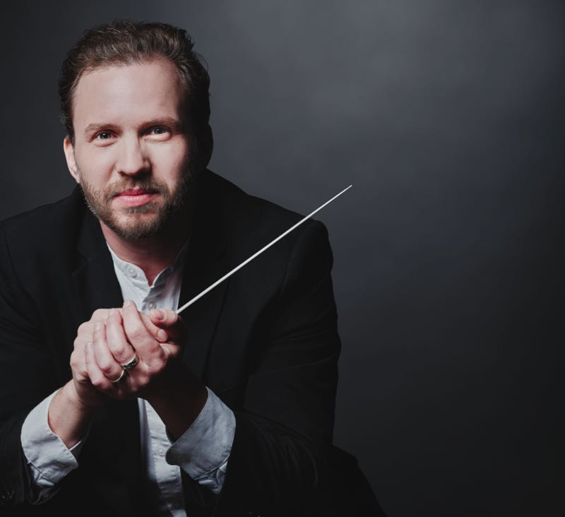 COURTESY PHOTO: OREGON SYMPHONY - New Music Director David Danzmayr leads the Oregon Symphony in its Waterfront Park concert, Sept. 4.