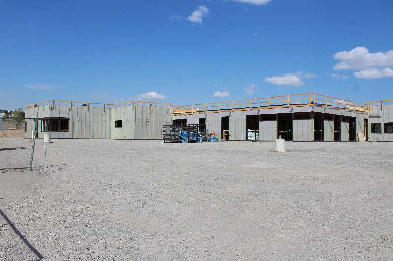 HOLLY SCHOLZ/MADRAS PIONEER - Construction began in April. The facility should be move-in ready in April 2022.