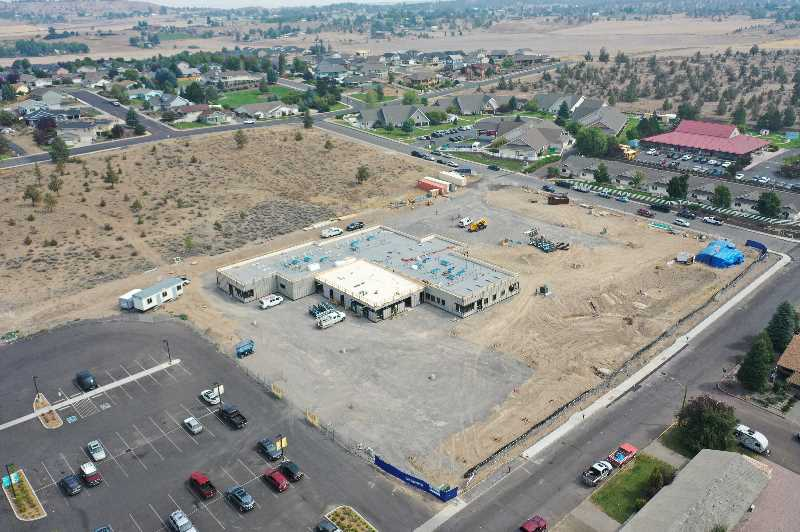 PHOTO COURTESY OF STRUCTIONSITE - An Aug. 26 aerial view of the Jefferson County Health and Wellness Center construction site.
