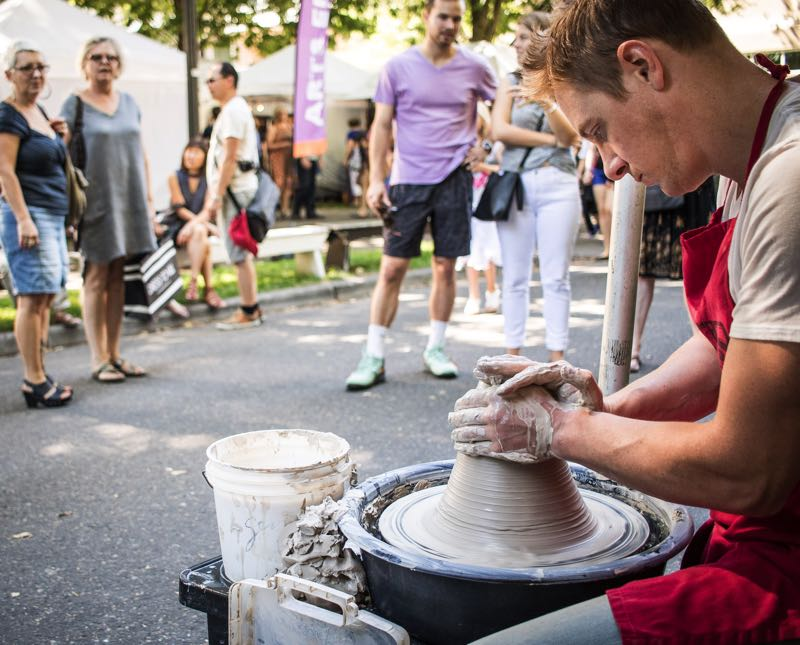 COURTESY PHOTO: ART IN THE PEARL - There will be demonstrations by artists at Art in the Pearl.