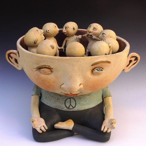 COURTESY PHOTO: ART IN THE PEARL - Here is an example of a whimsical character in Kina Crow's work, which will be shown at Art in the Pearl.
