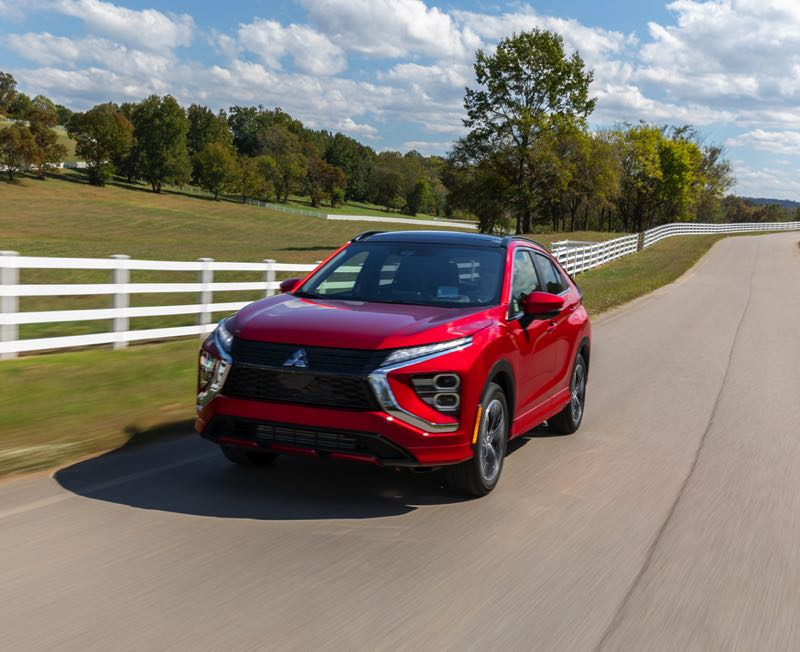 COURTESY PHOTO: MITSUBISHI - The 2022 Mitsubishi Eclipse Cross has been redesigned with a more aggressive front end and low air dam.