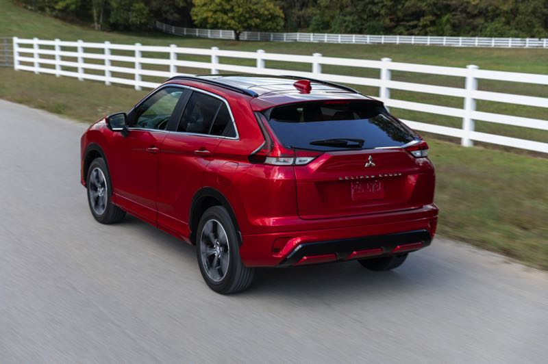 COURTESY PHOTO: MITSUBISHI - The previously-awkward rear end of the Mitsubishi Eclipse Cross has been restyled for 2022.