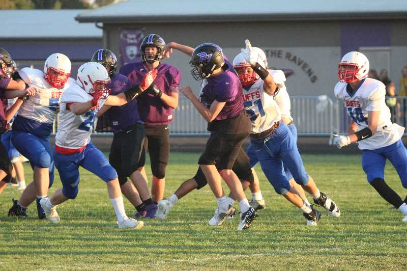 ANDY DIECKHOFF/MADRAS PIONEER - After falling in their opener against La Pine, the Madras defense pitched a shutout against 5A Ridgeview.