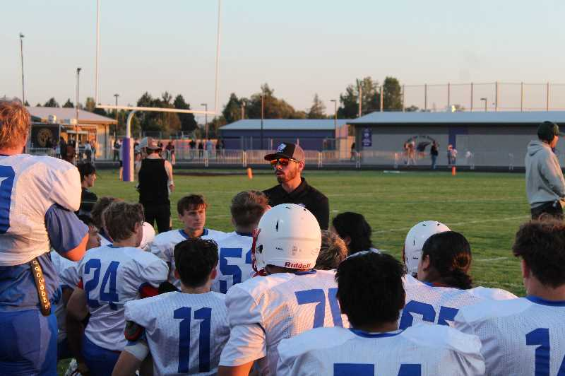 ANDY DIECKHOFF/MADRAS PIONEER - Madras head coach Kurt Taylor said after the Ridgeview jamboree that he was 'happy with how it turned out,' but also noted that the team still has improvements to make before Week 1 against Corbett.