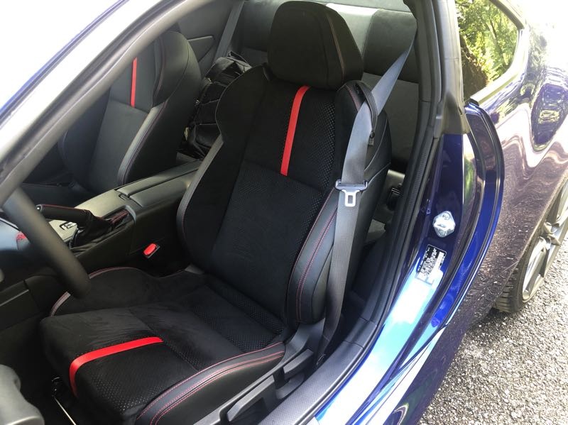 PMG PHOTO: JEFF ZURSCHMEIDE - The front bucket seats in the 2022 Subaru BRZ are more comfortable but still supportive.