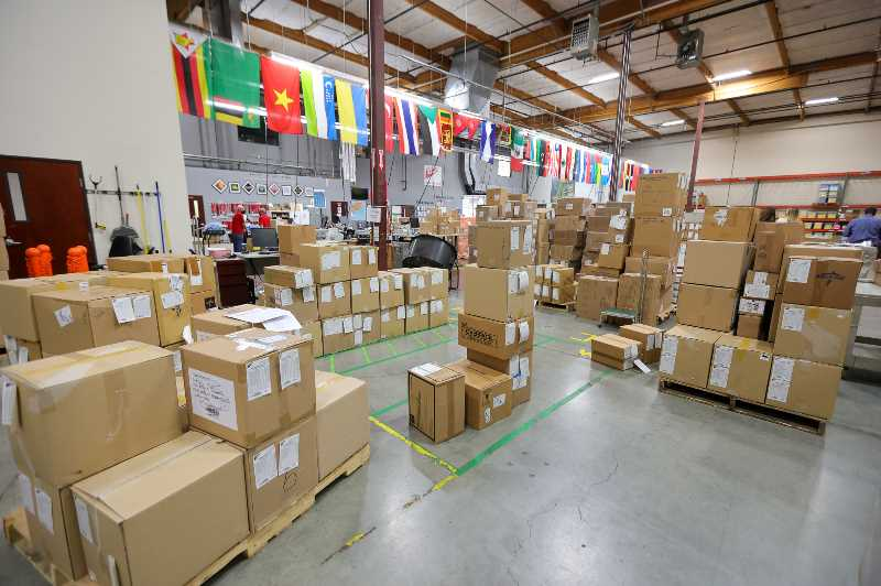 PMG PHOTO: JONATHAN VILLAGOMEZ - Tigards Medical Teams International has a large warehouse for shipping medical supplies to needy countries around the world.