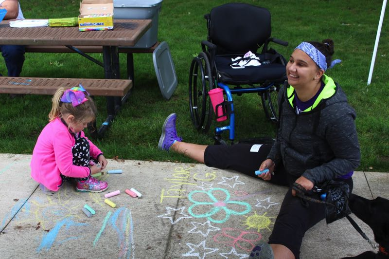 COURTESY PHOTO: TAYLOR GUSTAFSON - Taylor Gustafson, right, was born with Chiari malformation and is the Oregon representative and organizer of the Conquer Chiari Walk Across America this year.