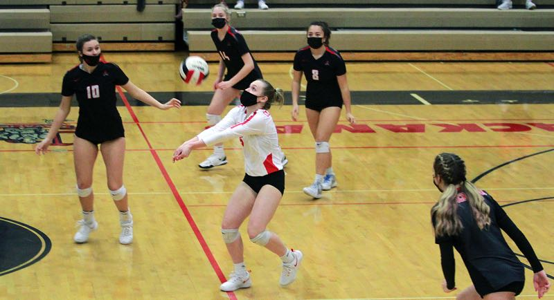 PMG PHOTO: MILES VANCE - Clackamas senior Avery Bergers (center) and the Cavaliers were one of the Mt. Hood Conference's best teams last season and plan to contend once again in 2021.