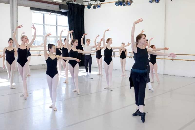 COURTESY PHOTO: BLAINE TRUITT COVERT FOR THE PORTLAND BALLET - Dancers at The Portland Ballet studio in Hillsdale. New students are still being accepted for the 2021-22 curriculum year.