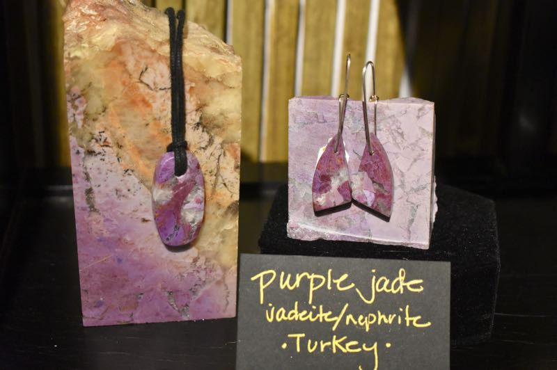 """PMG PHOTO: EMILY LINDSTRAND - Many necklaces and earrings are featured in """"Just a Stone's Throw Away"""" at the Spiral Gallery."""