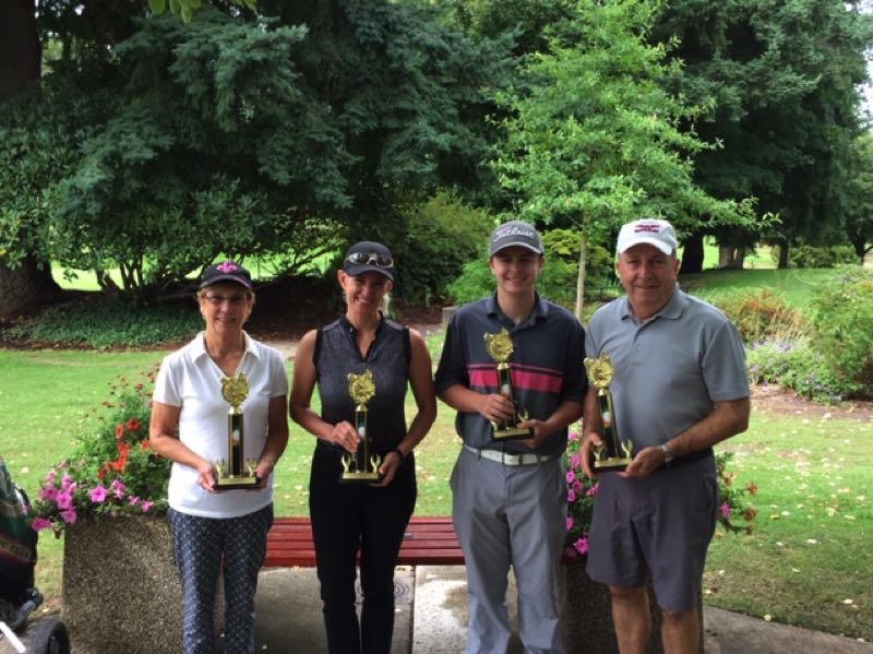 COURTESY PHOTO: TOM MUELLER - From left to right: Jeanie Newcomb,  Liz Hatcher, Bryce Hatcher and Howard Newcomb were the 2019 winners.