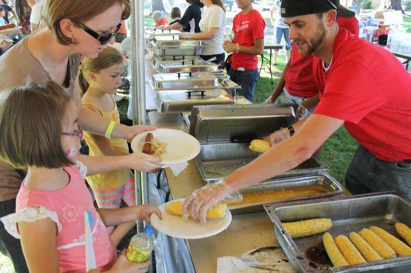 Volunteers are what make the Corn Roast and Harvest Festival in Forest Grove a success.