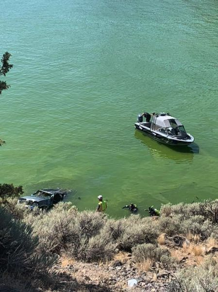 PHOTO COURTESY JEFFERSON COUNTY SHERRIF'S OFFICE - Tuesday, Aug. 31,  27-year-old Joseph Wylder, of Bend failed to navigate this turn on Jordan Road, sending his truck into Lake Billy Chinook. Jefferson County Sheriff Deputies recovered the body and towed the truck from the river.