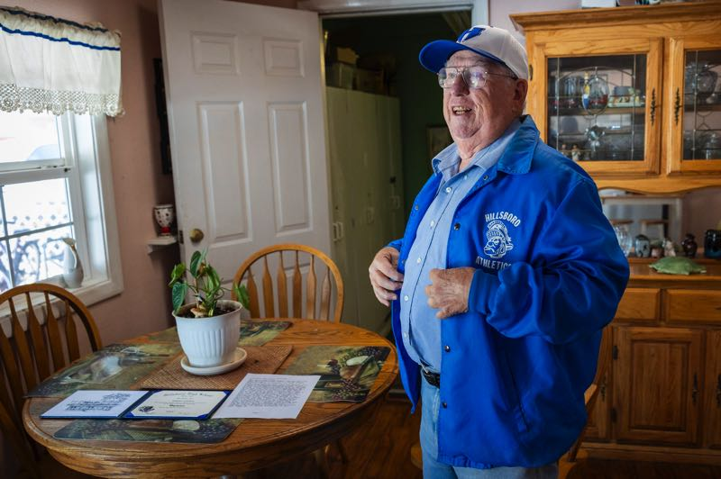 PMG PHOTO: JAIME VALDEZ - Chester Conklin attended HIllsboro High School for three years in the late 1940s before he and his family moved out of town and he joined the U.S. Navy during the Korean War.