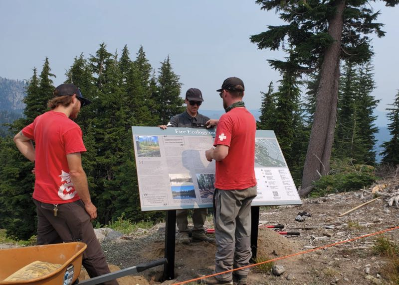 COURTESY PHOTO: MT. HOOD MEADOWS - The new interpretive signs along the hiking trails at Mt. Hood Meadows offer a range of information on the history and ecology of the area.
