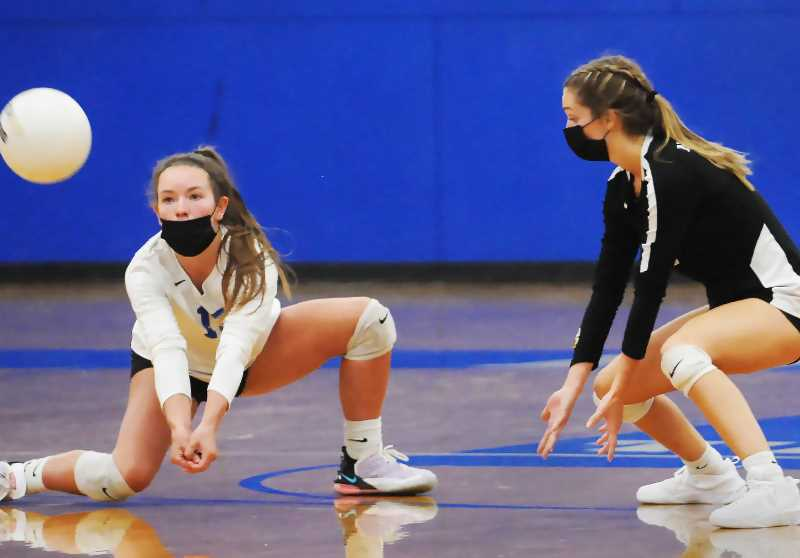 PMG PHOTO: GARY ALLEN - The Tigers beat Beaverton in two sets in a non-conference match Thursday at home.