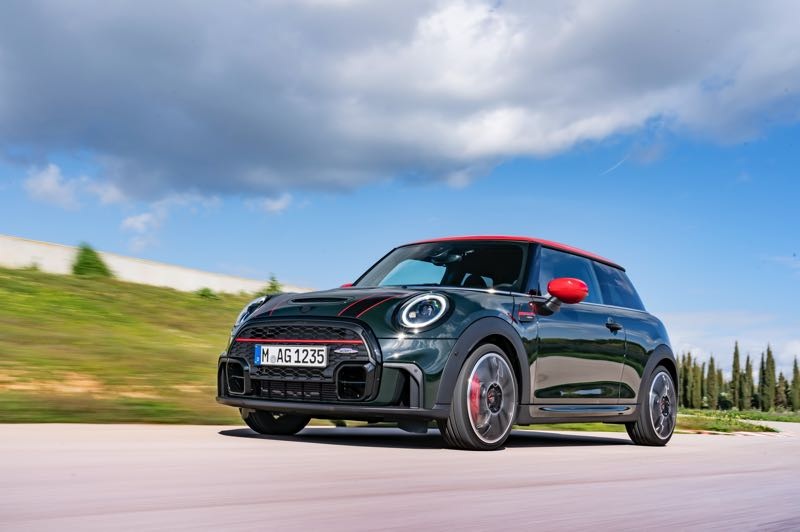 COURTESY PHOTO: BMW - The 2022 MINI Cooper John Cooper Works comes with refreshed styling, the most powerful engine ever, a stiffer suspension, bigger Brembo brakes, and loads of charm.