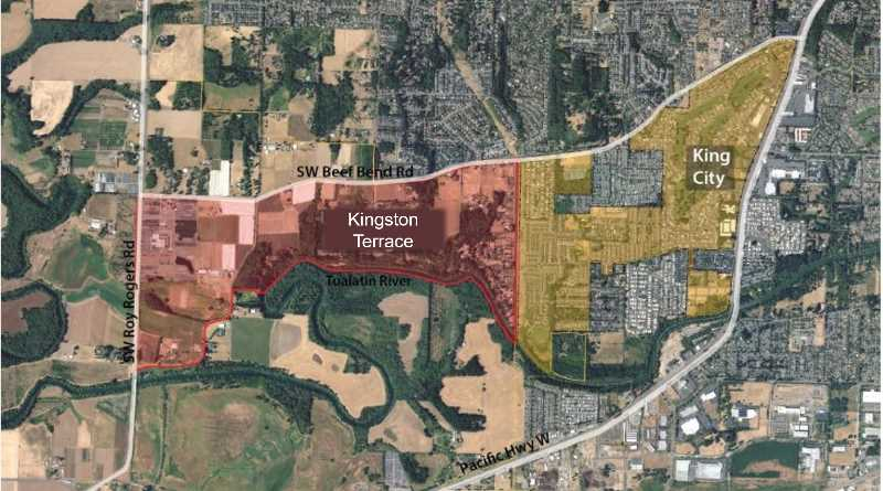 COURTESY PHOTO: CITY OF KING CITY - A map shows the boundaries of Kingston Terrace.