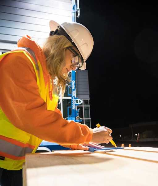 COCC PHOTO - Hardhat in Hand, a partnership between Central Oregon Community College, Facebook and Fortis Construction, offers an eight-week paid training program aimed at developing skilled labor for the data center construction industry.