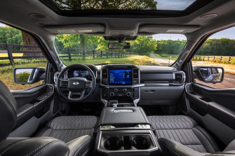 COURTERSY PHOTO: FORD MOTOR CO. - At the Platinum trim level, the interior of the F-150 is as good as any luxury car, albeit with a masculine look and feel.