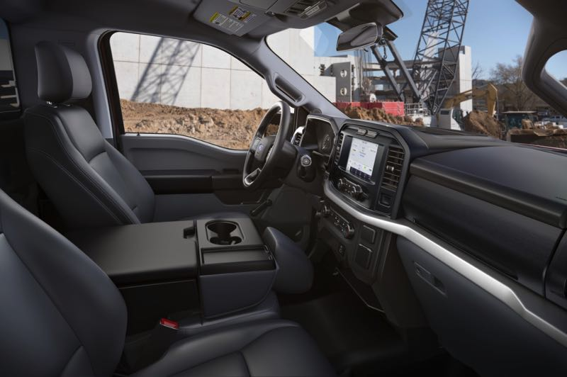 CONGTRIBUTED PHOTO: FORD MOTOR CO. - The cab of thr 2021 Ford F-150 can be utilized as an office on work sites or anywhere.
