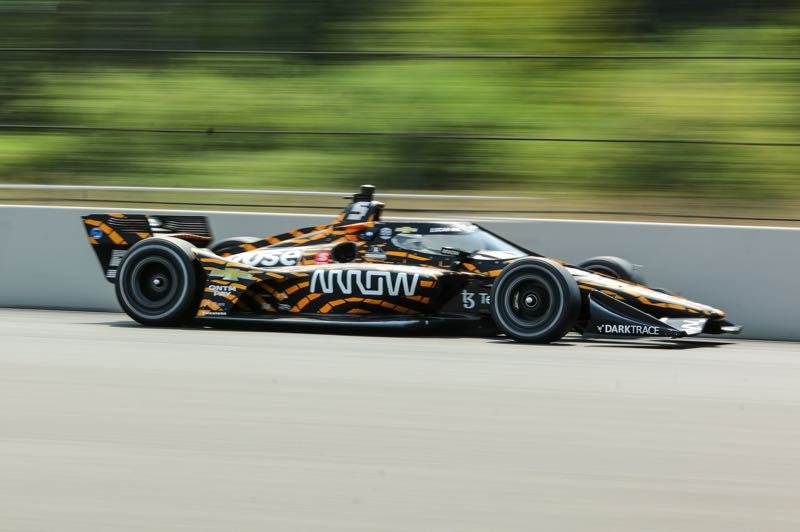 PMG PHOTO: JONATHAN VILLAGOMEZ - Pato OWard leads in IndyCar Series points heading into the race at Portland International Raceway, but it is a close competition with three races left in the series.