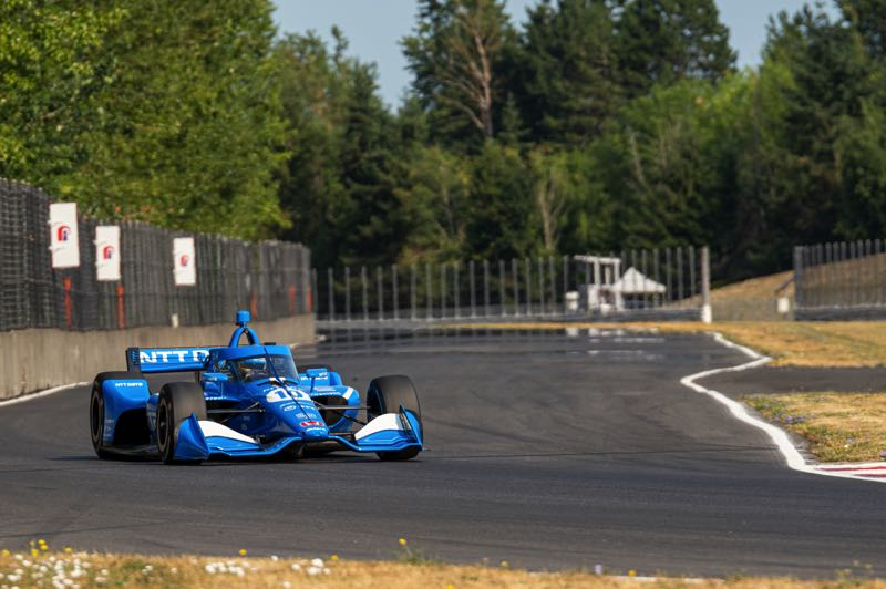 COURTESY PHOTO: INDYCAR - Alex Palou of Chip Ganassi Racing manages a turn during a Portland International Raceway test. He is excited for the Grand Prix of Portland.